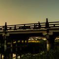 夏の夕暮れ(盛岡市与の字橋)