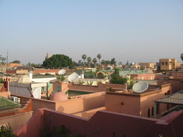 Marrakech city , all red