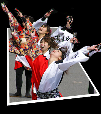 """写真: 早稲田大学 """"踊り侍""""_東京大マラソン祭り2008_bf3"""