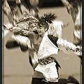 """写真: 早稲田大学 """"踊り侍""""_東京大マラソン祭り2008_sepia"""