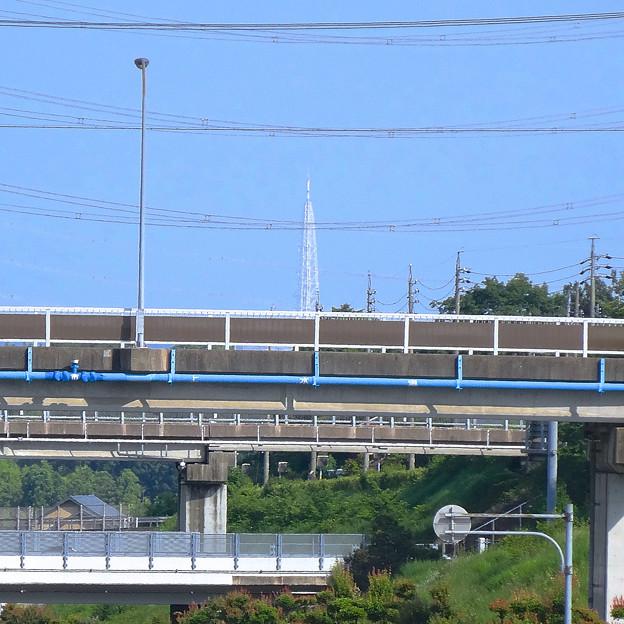 まるで「白亜の塔」のような、国道155号上から見える瀬戸デジタルタワー - 3