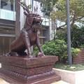 獅子の銅像(香港)