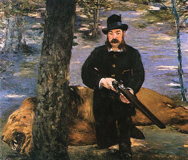 マネ-1881ベルテュィゼの肖像、ライオン狩りの男-サンパウロ美術館