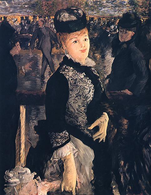 マネ-1877スケーティング-ハーバード・フォッグ美術館