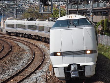 683系特急サンダーバード 東海道本線サントリーカーブ