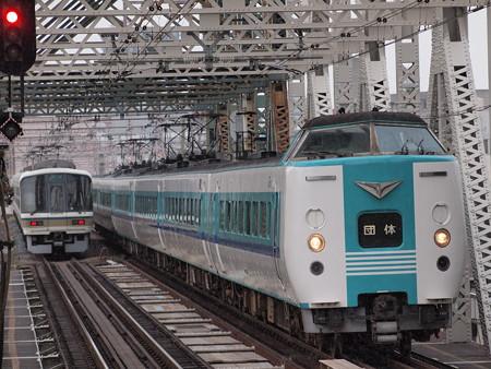381系団臨 大阪環状線大正駅