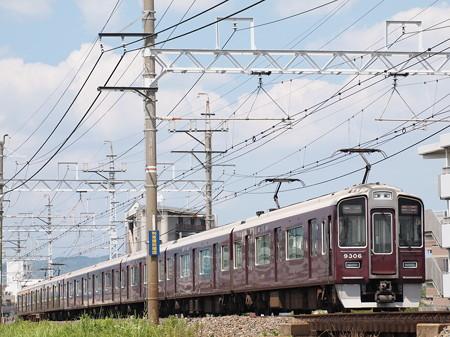 阪急9300系特急 阪急京都線総持寺~茨木市