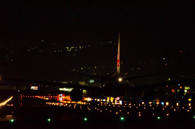 伊丹空港 千里川 夜間 夜景