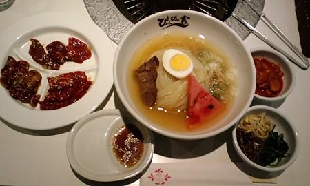 冷麺焼肉セット@ぴょんぴょん舎 盛岡駅前店