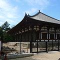 写真: 唐招提寺正門は工事中