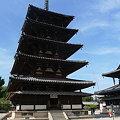 写真: 法隆寺五重塔