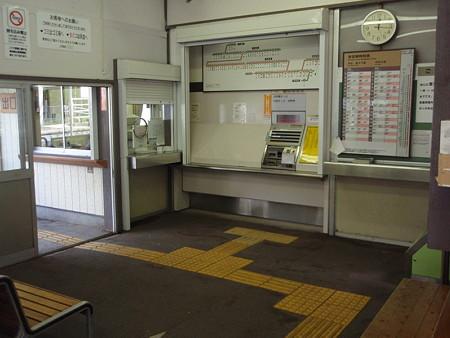 下部温泉駅構内