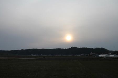 猪苗代に沈む夕日