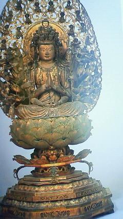京都清水寺奥の院 十一面観音菩薩坐像