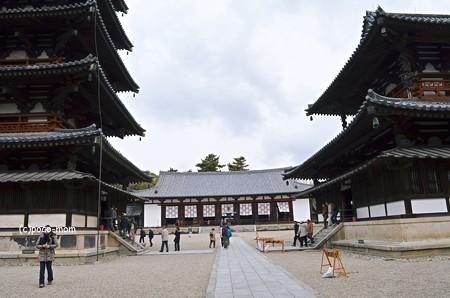法隆寺西院伽藍 大講堂2014年02月10日_DSC_0316