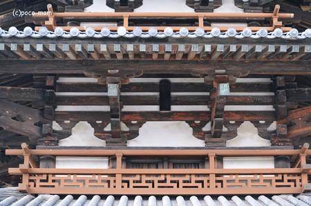 法隆寺五重塔卍崩し勾欄(高欄)2014年02月10日_DSC_0303