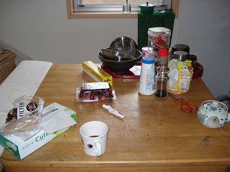 我家のテーブル