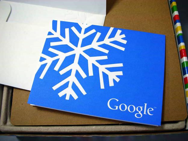 写真: Googleからクリスマスプレゼント