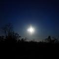 真っ青な夕景