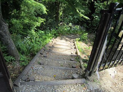 階段を降りていくと