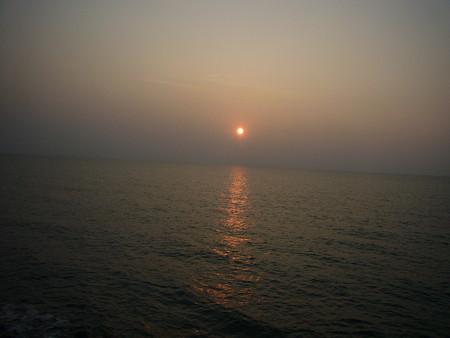 オロロンラインからみた夕日