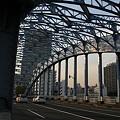 Photos: 夕日があたる永代橋