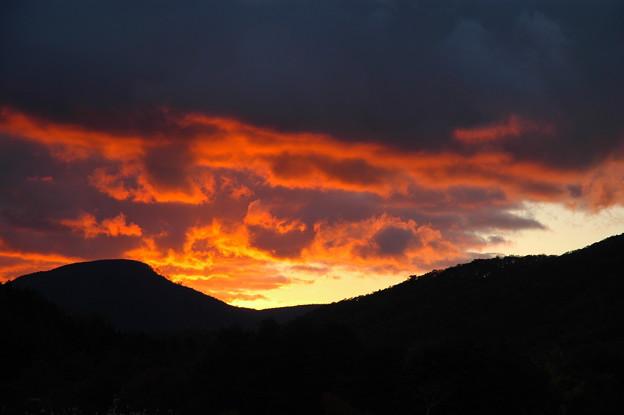 恐羅漢山の夕焼け