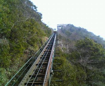 写真: ホテル祖谷温泉からケーブルカーで露天