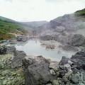 写真: 藤七の裏にある野湯 濃い泥湯