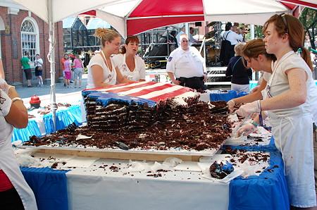 巨大フラッグケーキ