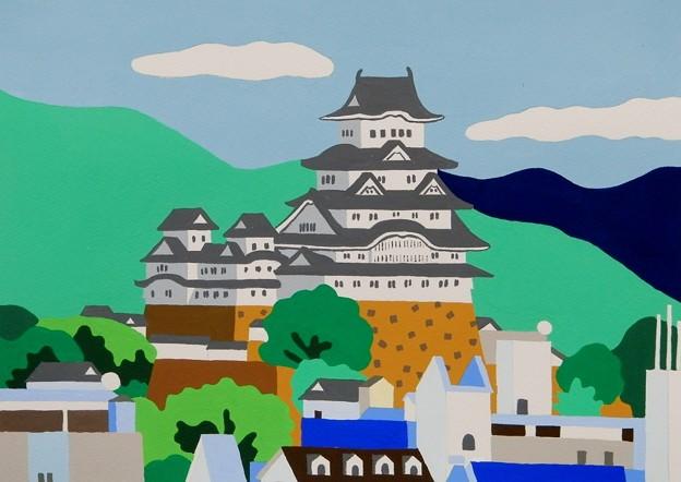 手柄山からの姫路城