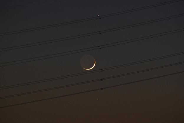 木星、月、水星 17:31 2008/12/29