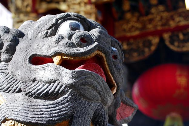 関帝廟の石獅