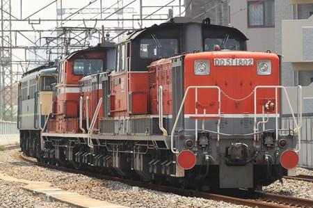 DD51 1802/1805 方向転換回送