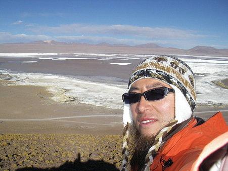 ウユニ塩湖ツアーにて
