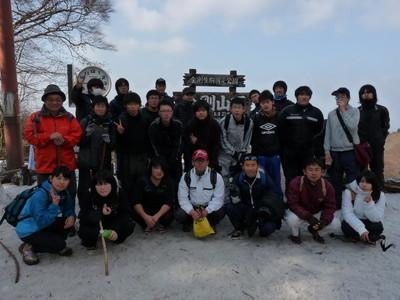 山頂での記念写真