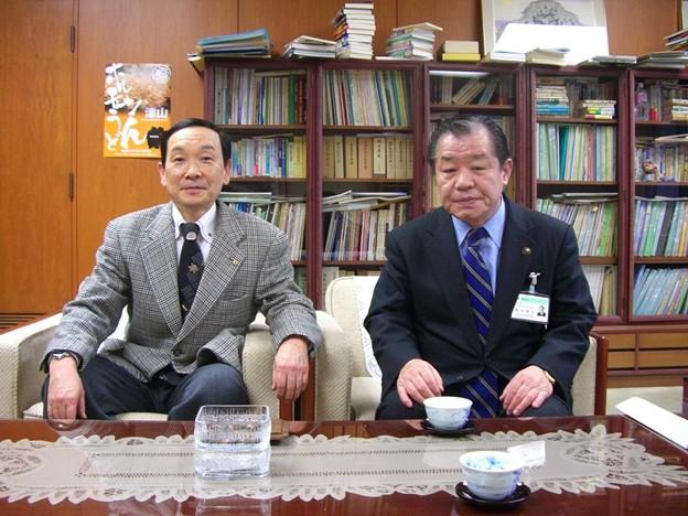 2009.2.5桑山津山市長と懇談