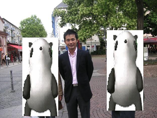 写真: 杉村太蔵さんに遭遇