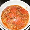 写真: 小樽 海猫屋 へら蟹のスパゲッティ