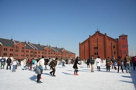 2008.12.23 赤レンガ倉庫にスケートリンク(ArtRink)