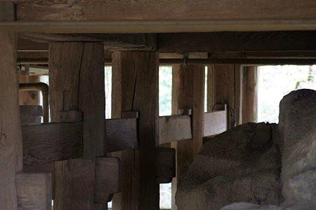 2009.02.28 笠森観音 観音堂(四方懸造り)縁の下