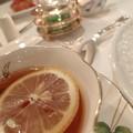 紅茶を頂きながら