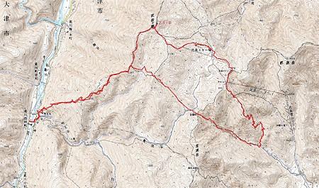 20080518武奈ヶ岳周辺ハイキング GPSログ
