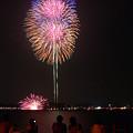 写真: 鎌倉の花火大会。(8/11)