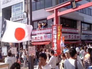 鎌倉駅前(5月4日、鎌倉保守の会)