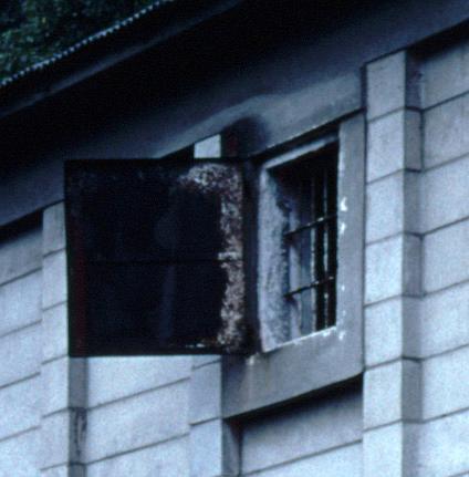 倉庫の明り窓(道路側の側面,JR豊肥本線豊後竹田駅)(s107-37d)