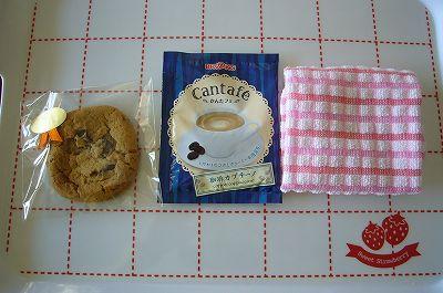 140422-1 クッキー・カフェラテ・おしぼり