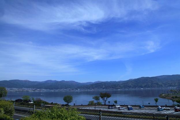 諏訪湖  雲
