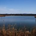 木場潟と白山連峰