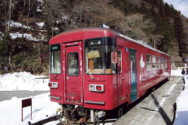 終点 北濃駅